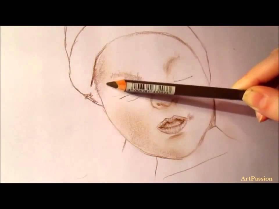 Comment dessiner un b b youtube - Comment dessiner un bebe chat ...