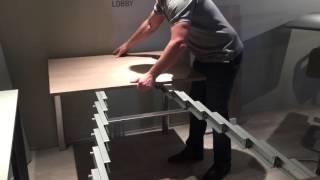 Кухонный стол трансформер. Необычный раскладной стол на выставке в Италии(Раздвижной стол . На Миланской выставке презентовали Раздвижные столы . Очень компактно и очень удобно..., 2015-10-04T19:15:57.000Z)