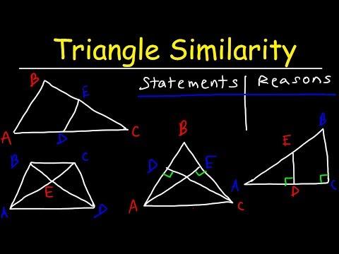 Triangle Similarity - AA SSS SAS & AAA Postulates, Proving Similar Triangles, Two Column Proofs
