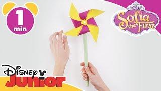 Sofia the First | Craft Tutorial: Sofia's Flower Pinwheel | Disney Junior UK