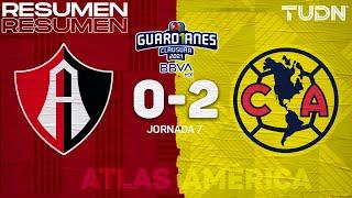 Resumen y goles | Atlas 0-2 América | Torneo Guard1anes 2021 BBVA MX J7 | TUDN