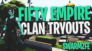 !tryouts PS4/XBOX CLAN TRYOUTS LIVE (Fortnite Battle Royale) 870+ Wins