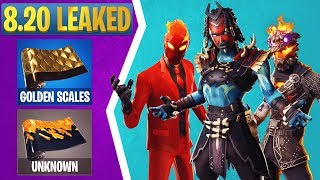 Fortnite 8.20 Leaked Skins: Golden Scales Wrap, Evil Suit Wrap, Shaman, Nightwitch, & More