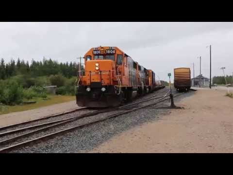 Ontario Northland Polar Bear Express switching in Moosonee (2016-Aug-21)