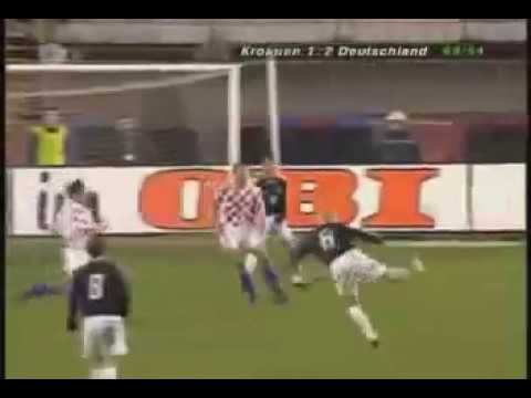 Philipp Lahm Debut & Klose's Goal Croatia - Germany 1-2 (18.02.2004)