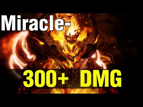 300+ DMG TO MIRACLE- SHADOW FIEND !! - Dota 2