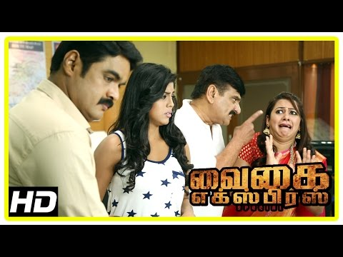 Vaigai Express Movie Scenes | RK inquire Iniya and Archana | AC coach attender murderer of Suja