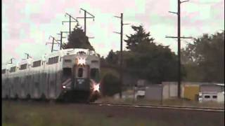 Sounder commuter train northbound to Seattle for a Seahawks game