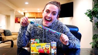 EATING MY FAVORITE CHILDHOOD CANDIES AGAIN!!! (TASTE TEST)