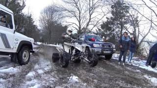Suzuki LTR 450 - Riding In The Snow