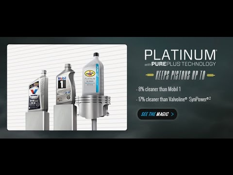 Oil change with pennzoil platinum full synthetic motor oil for What is synthetic motor oil made out of
