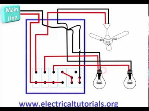 electrical installation in a room urdu hindi youtube rh youtube com electrical wiring diagram for bedroom Wiring a Light Switch and Outlet