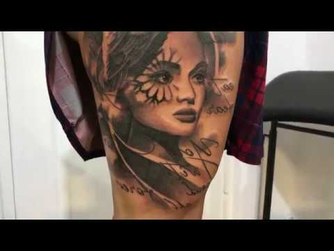 Letter - Tattoo  time lapse