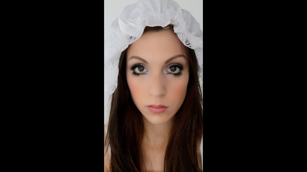Maquillage d 39 halloween poup e ang lique youtube - Maquillage poupee halloween ...