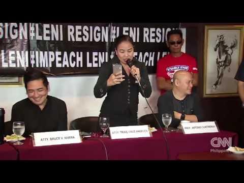 WATCH: Robredo critics in verbal clash with media over impeachment rap