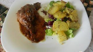 Утка под соусом из чернослива с картофелем  Французская кухня