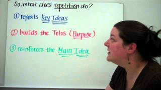 Rhetorical Strategy:  Repetition