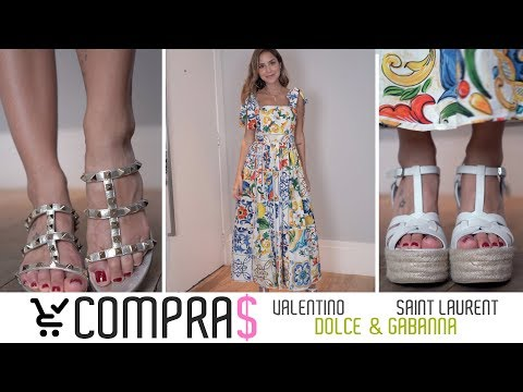COMPRAS de Luxo! Valentino, Dolce & Gabanna, Saint Laurent...из YouTube · Длительность: 6 мин29 с