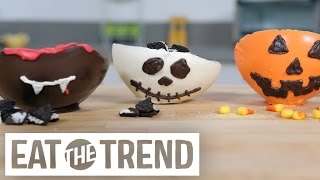 Adorable Edible Halloween Inspired Chocolate Bowls | Eat The Trend
