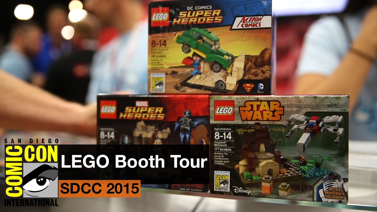 San Diego Comic Con 2015 LEGO Booth Tour