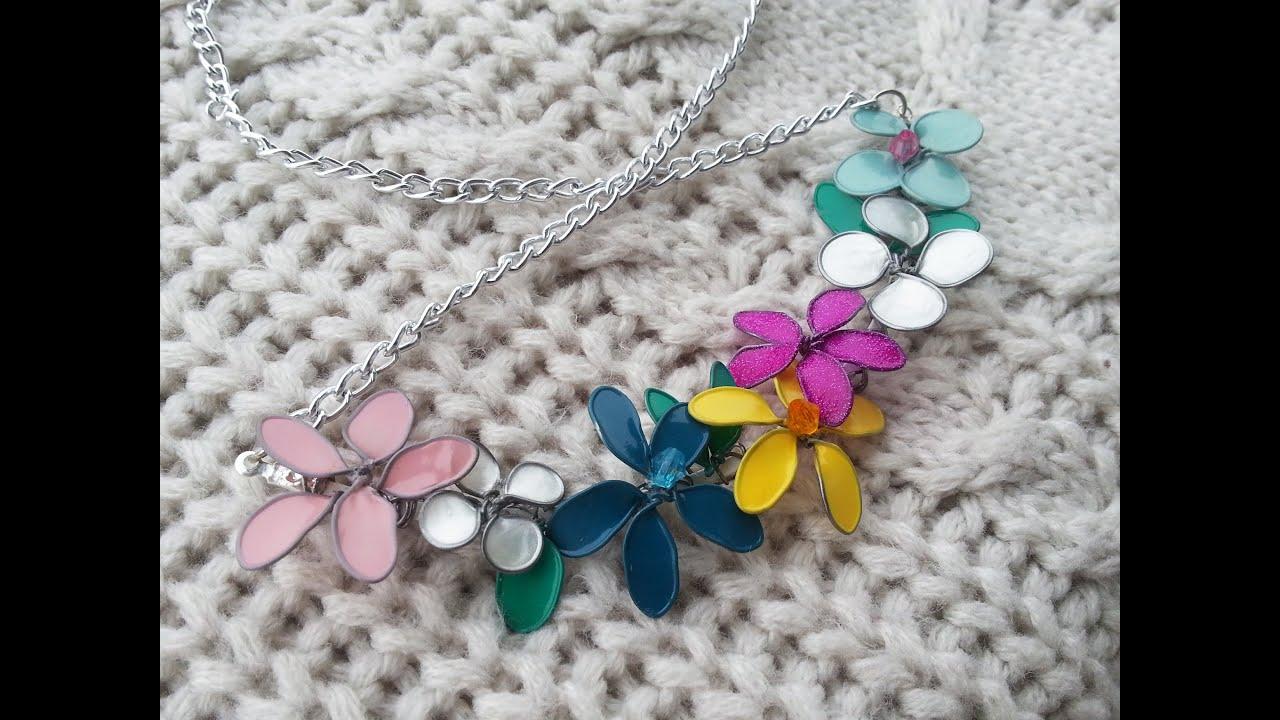 Tutorial collana con fiori di smalto per unghie youtube for Porta smalti fai da te