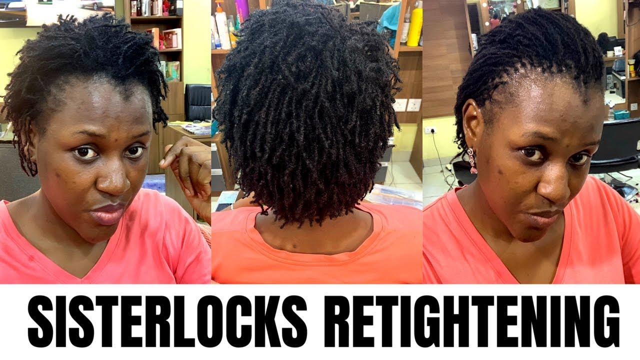 Sisterlocks Retightening On Short Hair 3 Months After Youtube