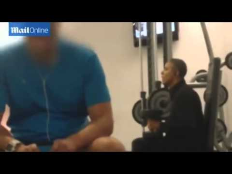 Re Obama works out Viral video parody