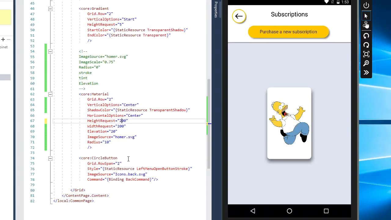 Material design for Xamarin Forms