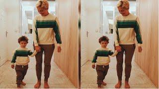Tatár Csilla összeöltözött a fiával