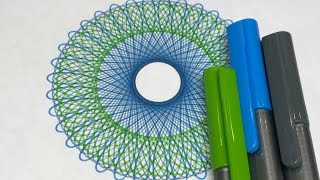 Green and Bluish Gray Design | Spirograph