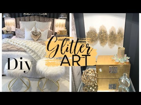 DIY Z GALLERIE INSPIRED GLITTER WALL ART
