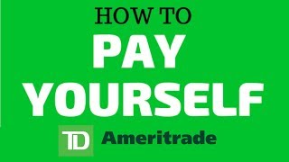HOW TO PAY YOURSELF ON THE TD AMERITRADE BROKERAGE | STEP BY STEP