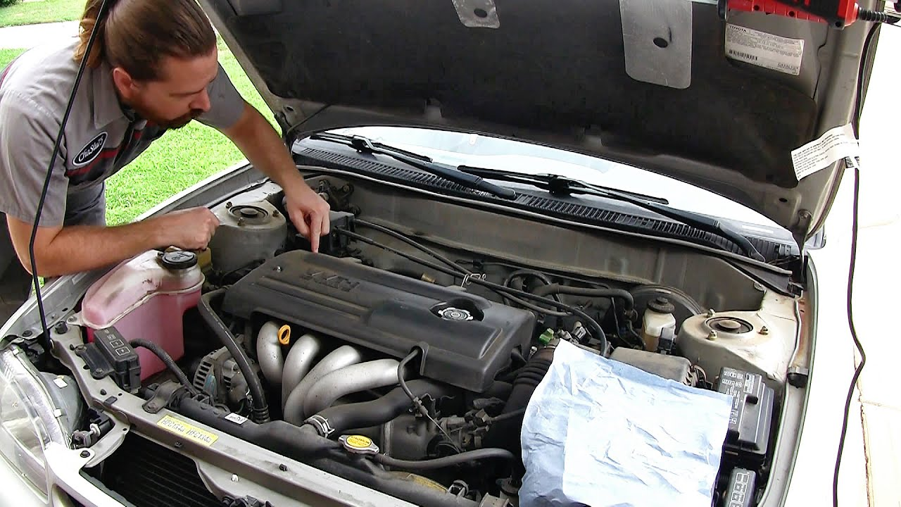 toyota corolla 1998 2002 hesitation fix detailed spark plug change and maf cleaning  [ 1280 x 720 Pixel ]