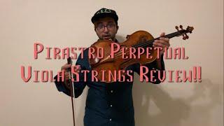 REVIEW: Pirastro Perpetual Viola Strings