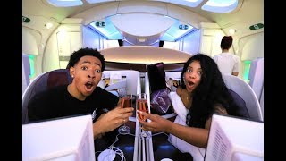 OUR $20,000 FIRST CLASS AIRPLANE SEATS!! (24 HOURS ON A PLANE)