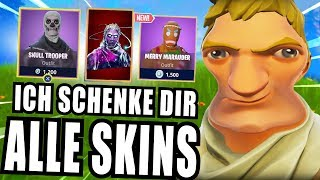 SKINS VERSCHENKEN PRANK in Fortnite Battle Royale (Skull Trooper)