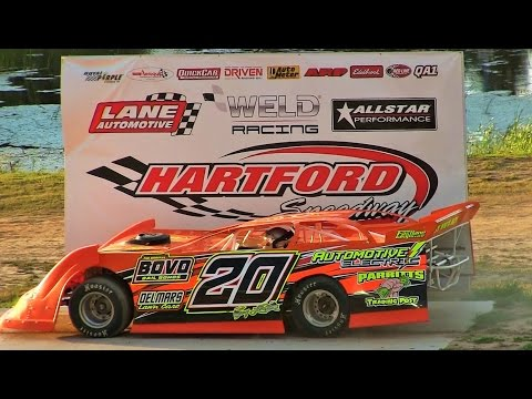 Late Model Heat 3 at Hartford Speedway on 7-8-16