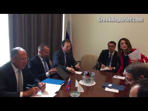 Russian FM Sergey Lavrov Meets with Cyprus President Anastasiades