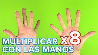 truco de la tabla de multiplicar del 8 con las manos