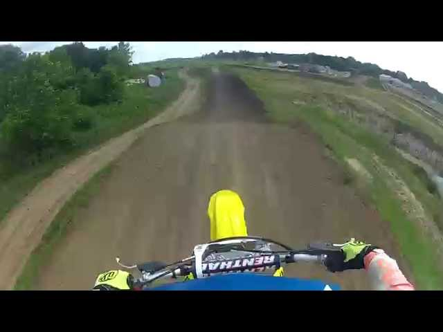 Wildcat Creek MX Rossville IN. 2003 Suzuki RM125 July 2014 #2