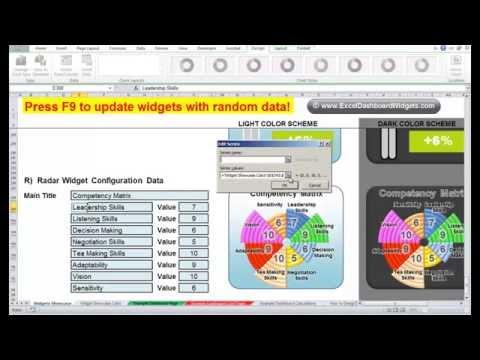 Excel Radar Widget Tutorial