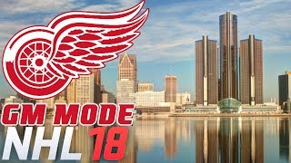 NHL 18 - GM Mode Commentary - Detroit ep. 1