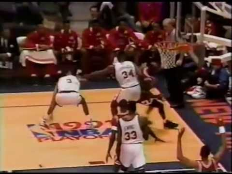 MICHAEL JORDAN - Famous Dunk on Ewing!!  1991 NBA Playoffs - Round 1 Game 3 - Bulls @ Knicks