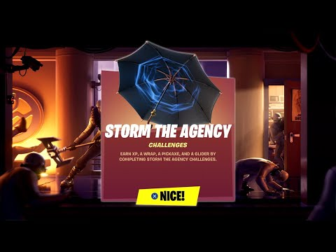 Fortnite Complete 'Storm The Agency' Challenges Guide - Over