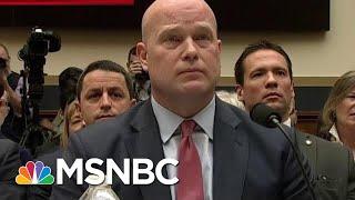 Matthew Whitaker: I Haven't Talked To Trump About The Mueller Probe | Hallie Jackson | MSNBC