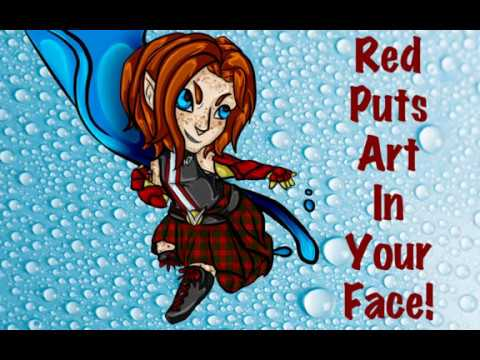 Red Puts Art in Your Face - DC comics theme!