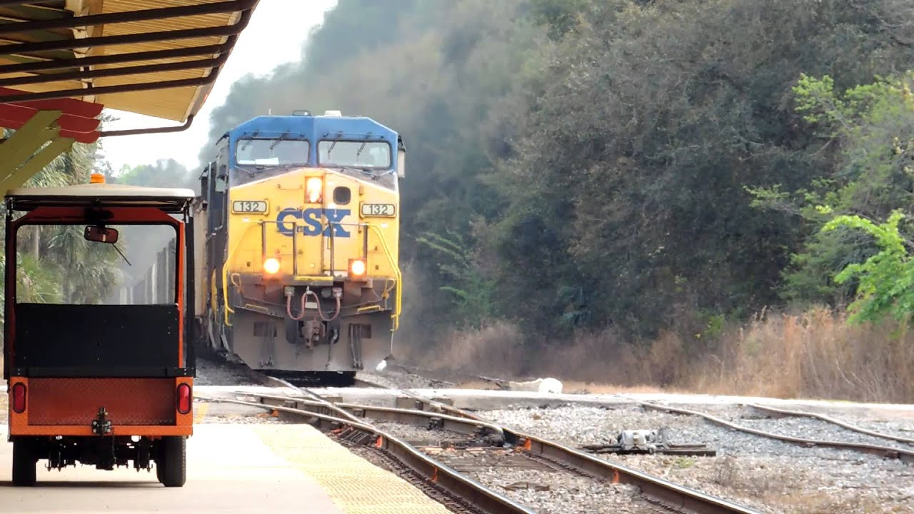 CSX Freight Train Passes the DeLand Amtrak Station on 2/7 ...