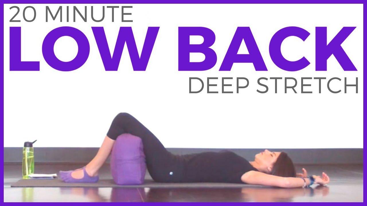 deep stretch yoga for low back 20 minute yoga sarah beth yoga