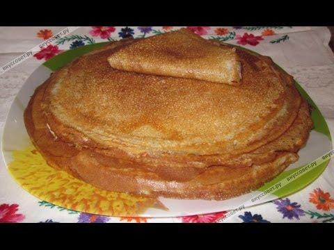 рецепт блинов пошаговый с фото