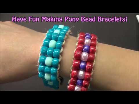 Hemp And Pony Bead Bracelet Project 79